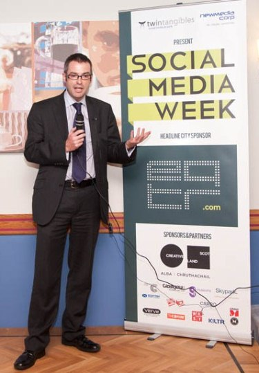 Brian Inkster talks at Social Media Week