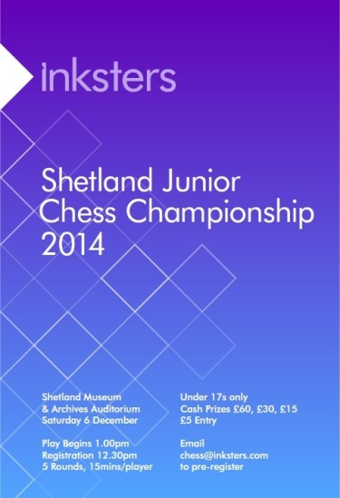 Inksters Shetland Junior Chess Championship 2014