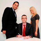From Left: Saleem Arif (QualitySolicitors.com), Brian Inkster (Inksters Solicitors) & Rachel Graham (QualitySolicitors.com)