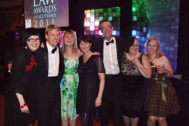 Inksters Staff and Guests at Law Awards of Scotland 2011