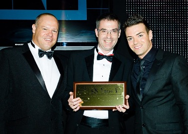 Brian Inkster presented with Chairman's Award - Law Awards of Scotland 2013