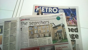 Metro feature about On The Market and Zoopla references Inksters