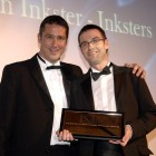 Brian Inkster receives the Solicitor of the Year award from Adrian McKenna